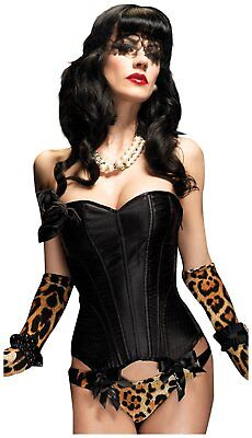 Burlesque Corset Halloween Costumes (Paige Corset Burlesque Dancer Bustier Halloween Sexy Costume Accessory 2)