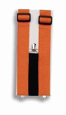 NEON ORANGE JUMBO CLOWN SUSPENDERS ADULT HALLOWEEN COSTUME ACCESSORY](Neon Orange Suspenders)