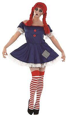 Ladies Sexy Dead Rag Doll Halloween Fancy Dress Costume Outfit UK - Dead Doll Halloween Costume Uk