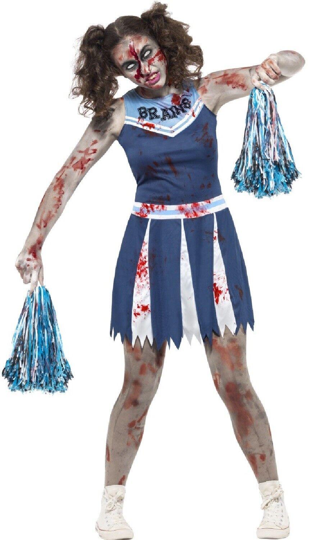 Details About Teen Older Girls Zombie Cheerleader Halloween Fancy Dress Costume 12 16 Years