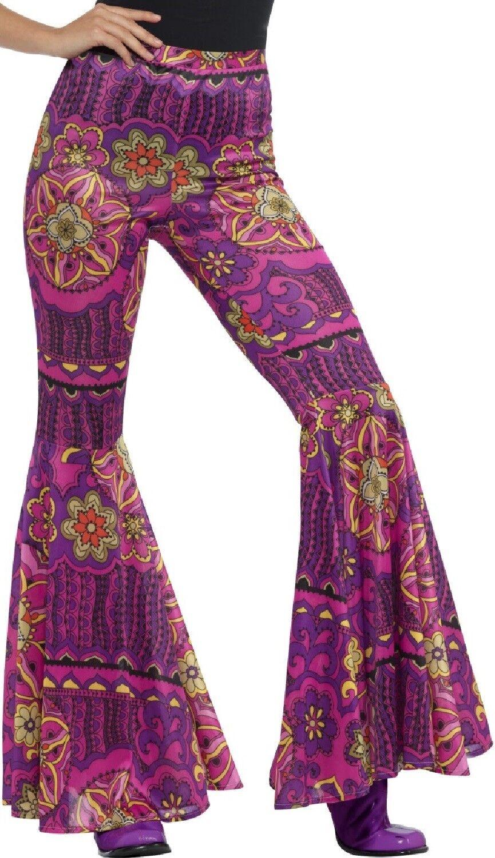 1960s 1970s Svasato Pantaloni Hippy Hippie Costume Donna Da Donna Costume outfi
