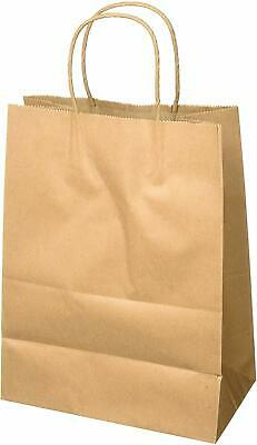 Paper Shopping Bags With Handles (50 Pcs Large Brown Paper Retail Shopping Bags Kraft With Rope Handles)