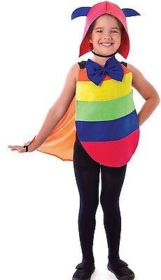 Mädchen Jungen Raupe Mini Biest Insekten Rainbow Kostüm Kleid (Jungen Insekten Kostüme)