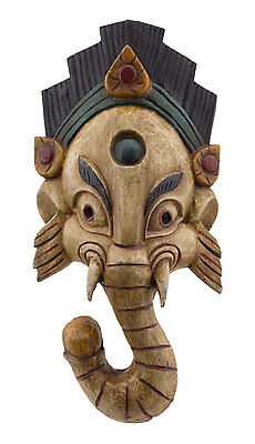 Mask Tibetan Ganesha Wood 35cm Himalayas-Elephant-Deity Ganesh Tibet Nepal 879