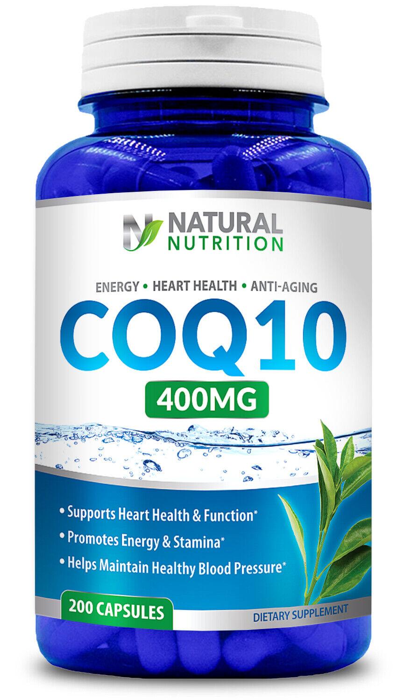 CoQ-10 400mg Coenzyme Promotes Heart & Cardiovascular Wellne