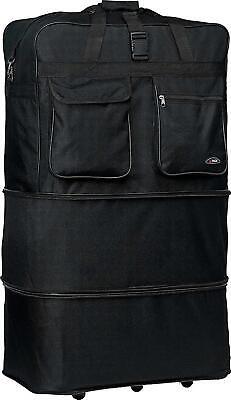 "36"" Heavy Duty Large Luggage Suitcase Jumbo Bag Rolling Wheel Travel Duffel Tote"