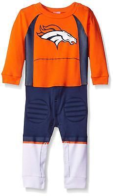 Denver Broncos NFL Baby/Toddler Boys' Long Sleeve Team Uniform Footysuit PJ: 18m