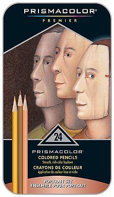 Prismacolor Premier Colored Pencils, Portrait Set, Soft Core, 24 Pack New