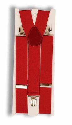 Rot Strapshalter Clown Nerd Damen Herren Santa Clausc Halloween Kostüm-zubehör ()