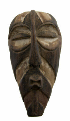 Masquette Songye Mask African Kifwebe DRC Wood 15cm Art First 16835