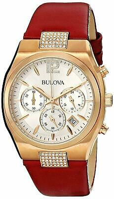 Bulova Women's Swarovski Crystal Accents Chronograph Quartz 34mm Watch 97M108