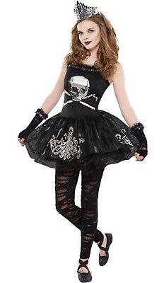 Girls Teens Dark Zombie Ballerina Halloween Fancy Dress Costume Outfit 12-16yrs](Dark Ballerina Costumes)