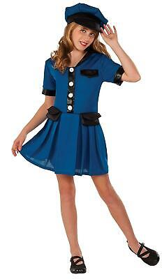 Lady Cop Halloween (Police Officer Lady Cop Girls Halloween Dress Up Costume Child)