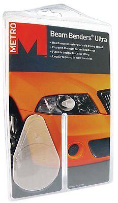 Metro Ultra Beam Benders Universal Car Headlamp Beam Deflectors For Euro Driving