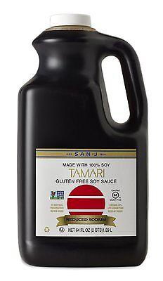 San-J Non-GMO Low Sodium Gluten Free Tamari Soy Sauce - 64 OZ (Free Tamari Soy Sauce)