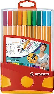 Rotuladores STABILO Point 88 Fineliner ColorParade, Estuche x20 Colores