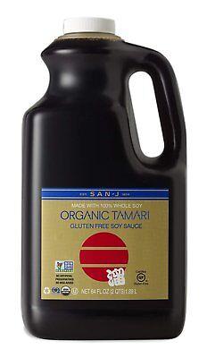 San-J Organic Tamari Gluten Free Soy Sauce Non-GMO,  Gold Label, 64 Ounce (Free Tamari Soy Sauce)