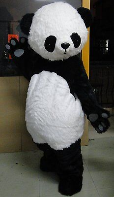 Professional Panda Bear Outfit Mascot Costume Adult Size Fancy Dress For Cosplay