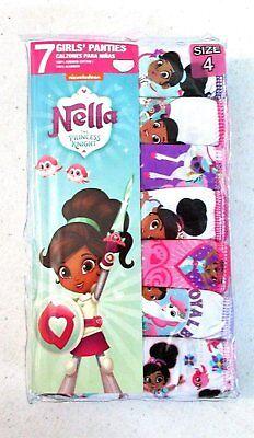 Nickelodeon Girls' 7-Pack Nella The Princess Knight Underwear Panties Size 8 ()
