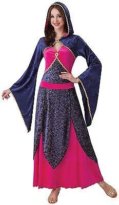 Damen Sexy Mittelalterlich Zauberin Halloween Kostüm Kleid Outfit 10-12-14 ()