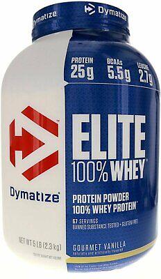 Dymatize Nutrition Elite Whey Protein Powder, Vanilla 5 Lbs