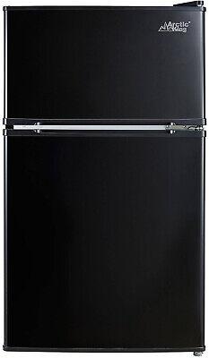 Refrigerator Mini Freezer 3.2 cu ft 2 Door Gloomy Small Space Dorm Apt
