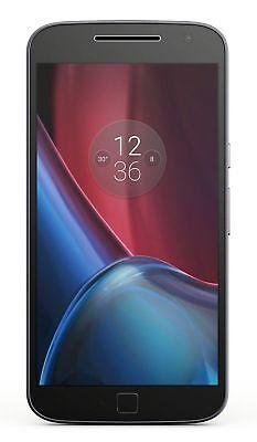 "Motorola Moto G4 Plus Black 32GB 4G 5.5"" Finger Print Single S GSM Unlock XT1641"