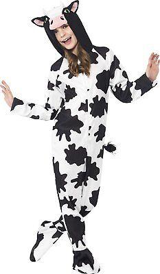 Party Animals Cow Halloween Costume Farm Child Kids Black N' White Small