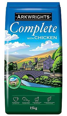 15kg Complete Dry Dog Food with Chicken Pets Feed Protein Nutrition Arkwrights