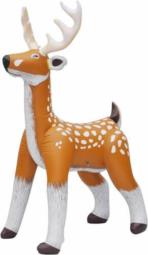 Jet Creations Inflatable Standing Deer Reindeer Inflatable Air Plush Stuffed