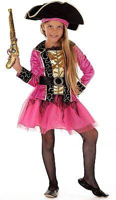 Piraten-Prinzessin - Piraten Kostüm Kinder Mädchen pink-schwarz Karneval - - Kostüm Von Piraten