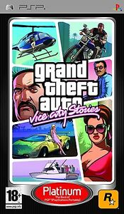 Grand Theft Auto Vice City Stories Sony PSP Platinum GTA New & Sealed Free P&P