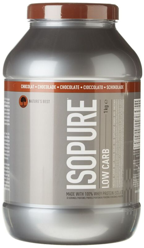 Isopure Zero Carb Whey Protein Isolate Powder, 1 Kg - Chocolate