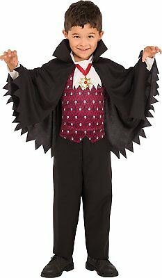 Little Boy Vampire Costume (Little Vampire Dracula Classic Gothic Count Fancy Dress Halloween Child)