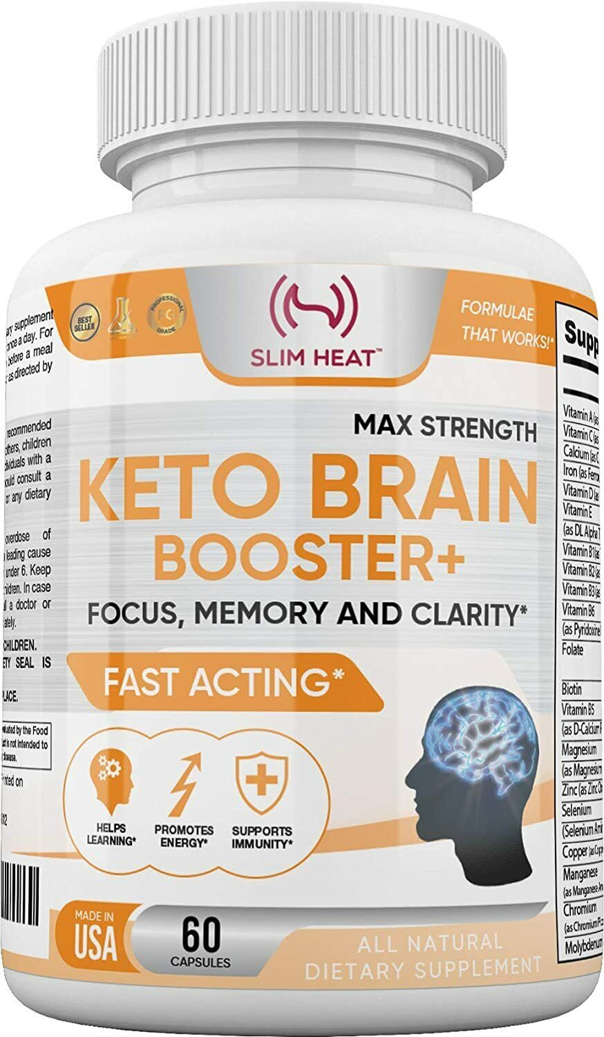 Brain Booster - Nootropic Brain Supplement - Focus, Concentration and Memory