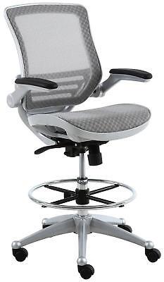 Harwick Evolve All Mesh Heavy Duty Drafting Chair In Platinum Finish
