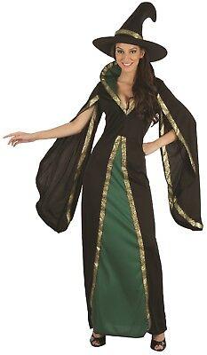 Damen Böse Grün Hexe Tv Film Halloween Horror Kostüm Kleid Outfit ()