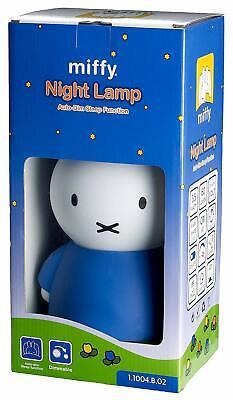 "Sweet Dreams with Miffy (Nijntje) 12"" Tall Blue LED Night Lamp Dim & Sleep Featu"