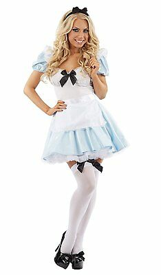 iss Alice In Wonder Outfit Deluxe Fancy Dress Costume S-XL (Alice In Wonder Kostüme)