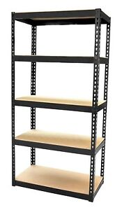 5 TIER HEAVY DUTY BOLTLESS INDUSTRIAL METAL SHELVING SHELVES STORAGE UNIT X 1