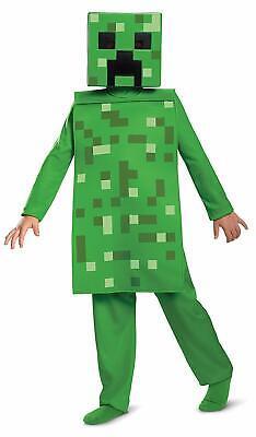 Minecraft Kids Halloween Costumes (Creeper Jumspuit Minecraft Mojang Video Game Fancy Dress Halloween Child)