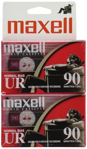 Maxell 108527 Flat Packs PACK OF 2 TOTAL OF 4 CASSETTES
