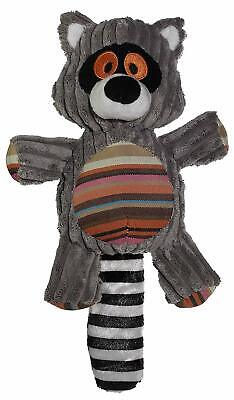 NEW! RACCOON DOG TOY CORDUROY PLUSH BUDDY w SQUEAKER 10