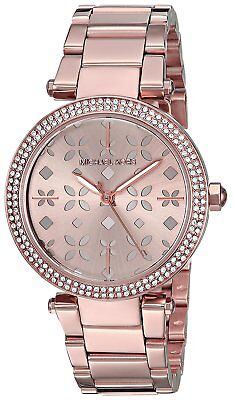 Michael Kors Women's Mini Parker Rose Gold-Tone Three-Hand Watch MK6470