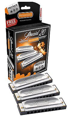 NEW HOHNER 3P560PBX SPECIAL 20 PRO PACK HARMONICA HARP 3 HARPS A,C,G NEW on Rummage