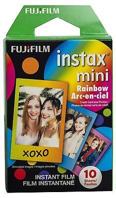 Fujifilm Instax Mini Instant Rainbow Film, 10 Sheets