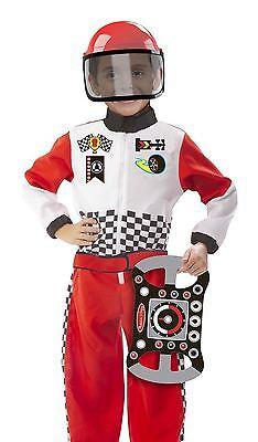 Melissa & Doug Rennwagen Fahrer Outfit Kostüm 3 Stück Rollenspiel - Rennwagen Kostüm