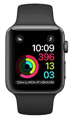 Apple Watch  2 38mm Space Gray Aluminum Case, Black Sport Band Orig