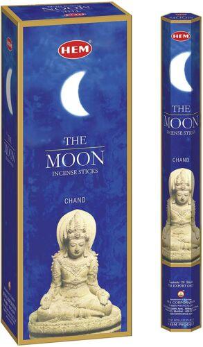 Hem The Moon Incense Sticks (Retail Box of Hex Tubes, 6 Tubes, 120 Sticks total)