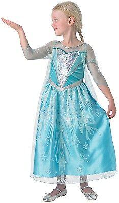 Mädchen Disney Eiskönigin Premium Elsa Prinzessin Büchertag Kostüm Kleid Outfit